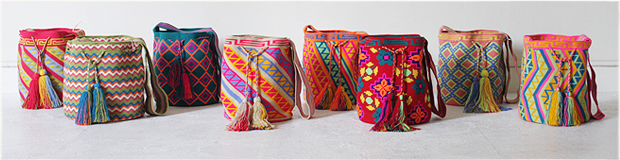 Summer Wayuu shoulder bags and clutches | Handwoven in South America | FestivalBag